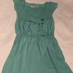 BCBG Generation Mint Ruffle Dress
